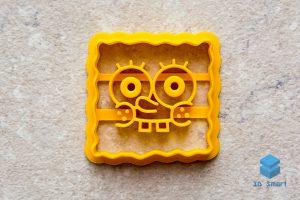 3D-печать формы для вырубки печенья Спанч-Боб