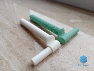 Болт крепежный пластиковый 3D-печать