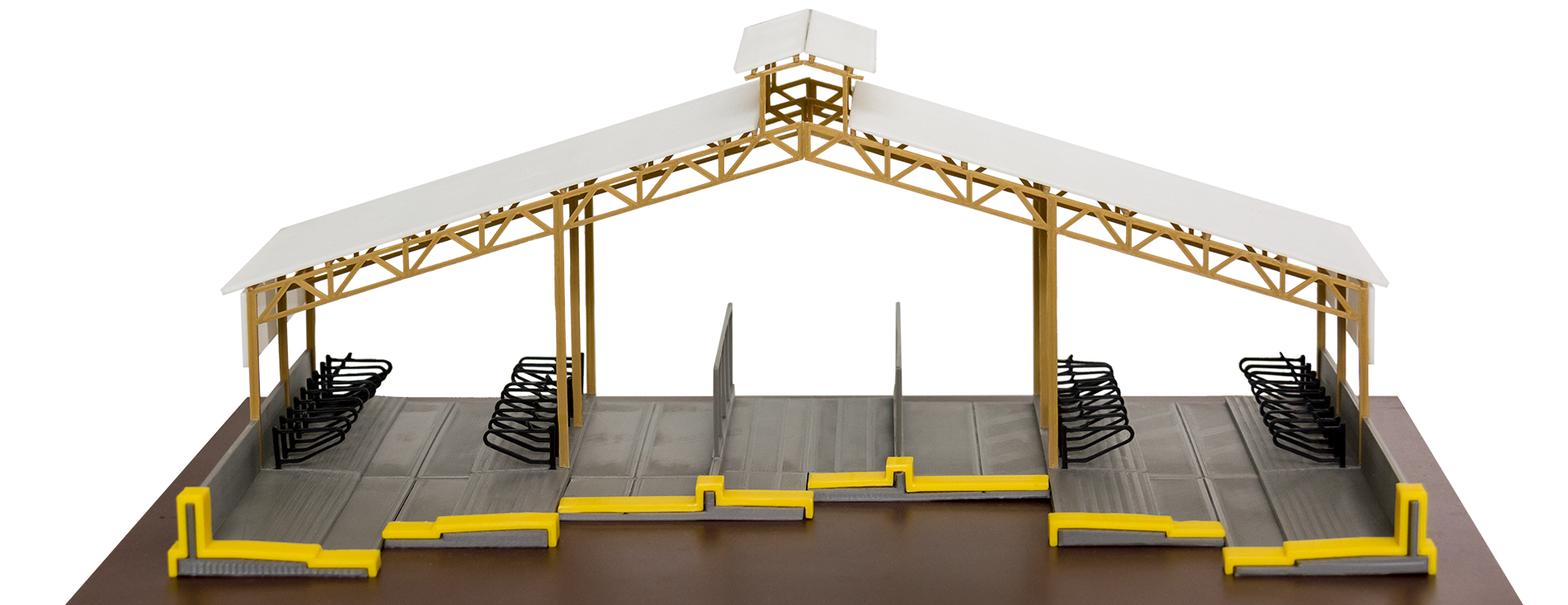 3D-макет коровника