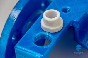 3D-печать резьбового соединения на макете