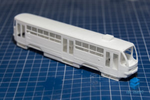Модель трамвая печать полиамидом Воронеж
