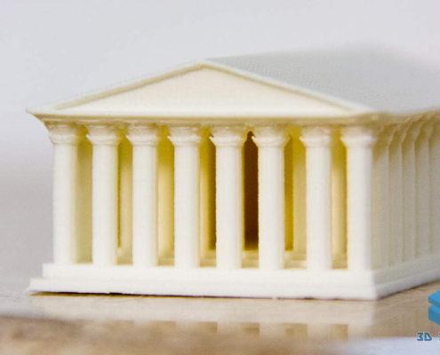 Модель Парфенона на 3D-принтере