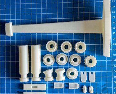 3D-печать деталей макетов космических кораблей
