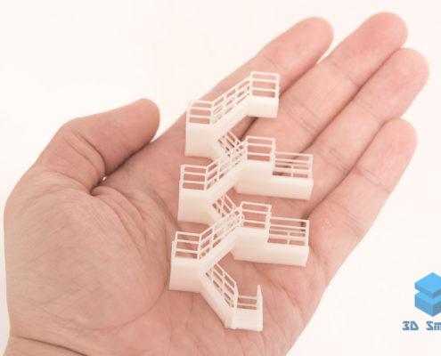 3D-печать деталей макетов (лестница)